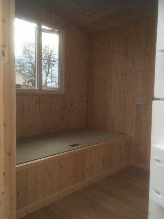 Photo of storage in a shpherds hut.