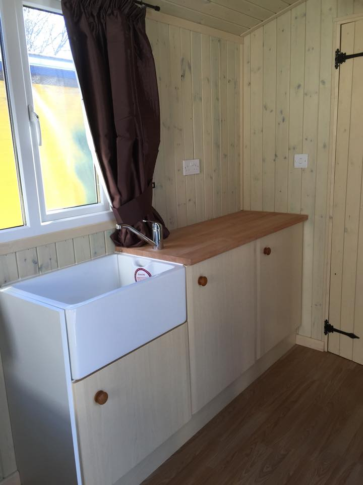 Photo of Shepherds Huts  Belfast sink installed in Craven Arms, Shropshire