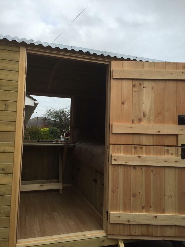 Photo of Shepherds Huts  open door, Shropshire, UK