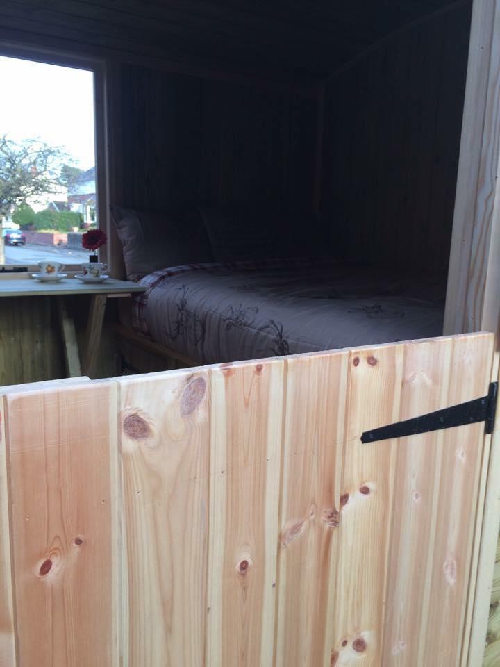 Photo of Shepherds Huts stable door.