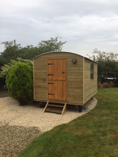 Our latest hut in place Shropshire shepherds huts and pods
