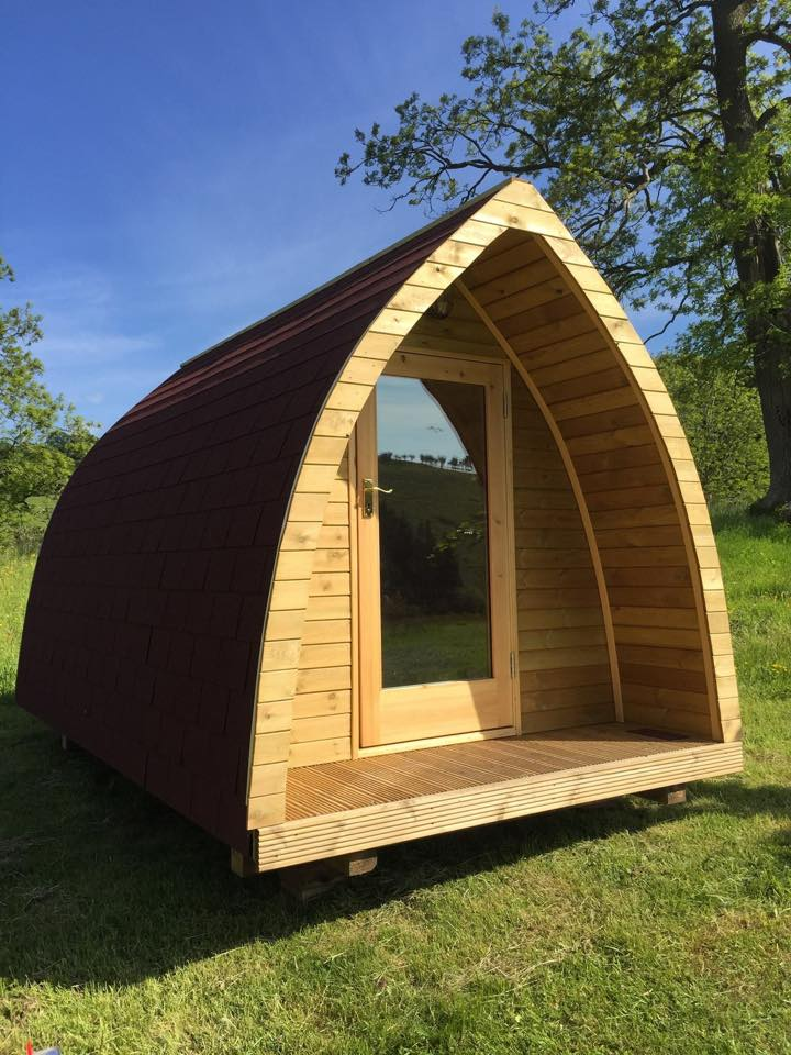 Photo of glamping pod on site in shropshire