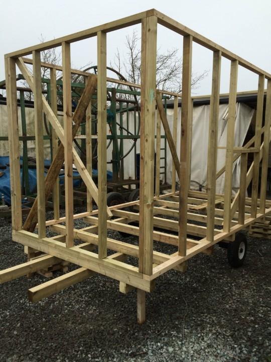 Photo of Shepherds Hut skeleton frame.