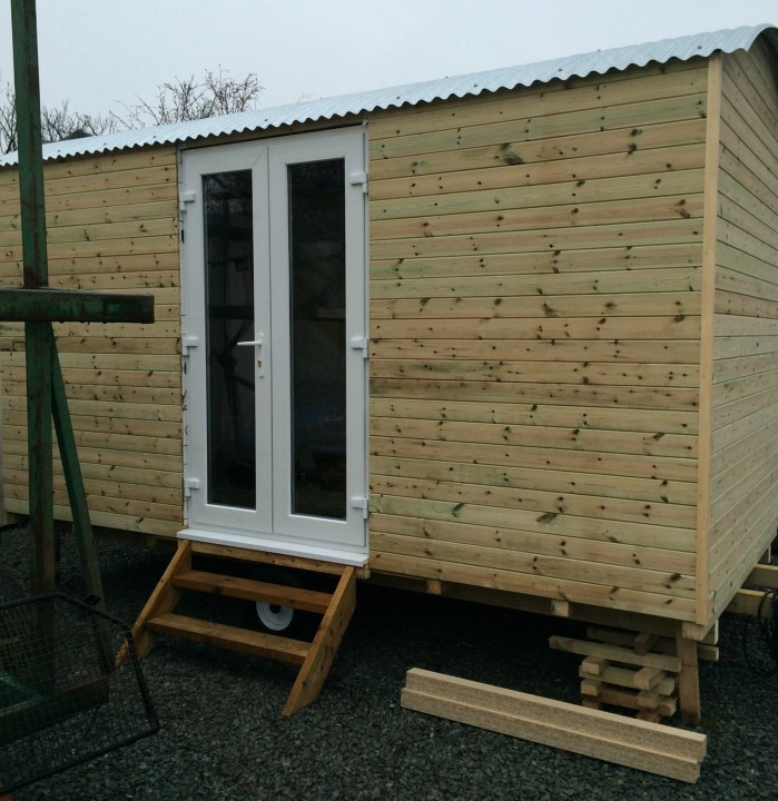 Photo of the shepherds Hut's Upvc doors