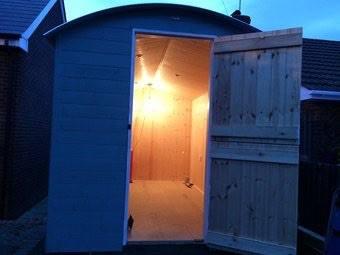 Photo of a Shepherd Huts interior lighting.